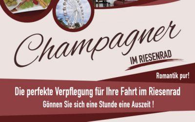 Champagner im Riesenrad. Romantik pur!